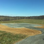 Barn site ready for construction
